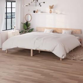 gultas rāmis, brūna mākslīgā zamšāda, 90x200 cm