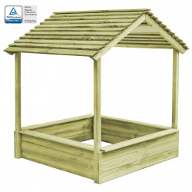 āra rotaļu māja ar smilšu kasti, FSC, priežkoks,128x120x145 cm