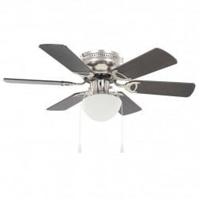 griestu ventilators ar lampu, 82 cm, dekoratīvs, tumši brūns