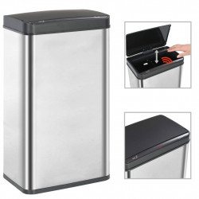 automātiska atkritumu tvertne ar sensoru, tērauds, 70 L