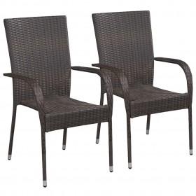 virtuves krēsli, 2 gab., melna mākslīgā āda