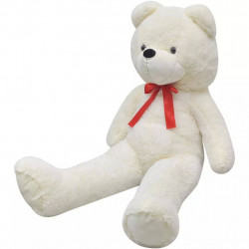 rotaļu lācis, balts plīšs, 200 cm, balts