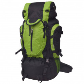 pārgājienu mugursoma XXL, 75 L, melna un zaļa