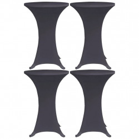 galdu pārvalki, 4 gab., 80 cm, elastīgi, antracīta pelēki