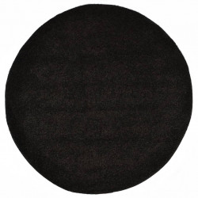 paklājs, 160 cm, Shaggy, melns