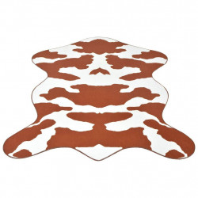 vidaXL paklājs, 110x150 cm, brūns govs ādas raksts