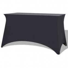 galda pārvalki, 2 gab.,183x76x74 cm, elastīgi, antracītpelēki