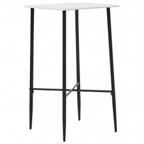 bāra galds, balts, 60x60x111 cm, MDF