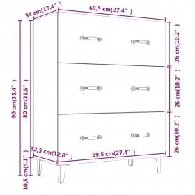 kafijas galdiņš, melna un ozolkoka krāsa, 120x60x46 cm