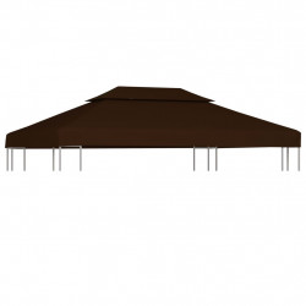 nojumes jumta pārsegs, divdaļīgs, 310 g/m², 4x3 m, brūns