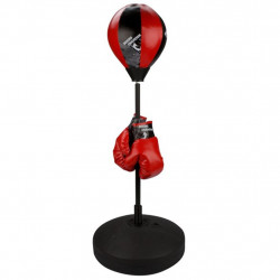 Avento bērnu boksa bumbieris, cimdi un pumpis, sarkans / melns 41BE