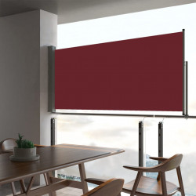 izvelkama sānu markīze, sarkana, 60x300 cm