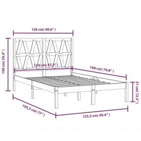 gultas rāmis, gaiši pelēks audums, 120x200 cm