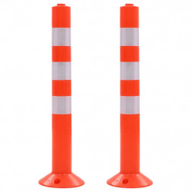 ceļa stabiņi, 2 gab., plastmasa, 75 cm