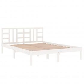 gulta ar LED un matraci, pelēkbrūns audums, 140x200 cm