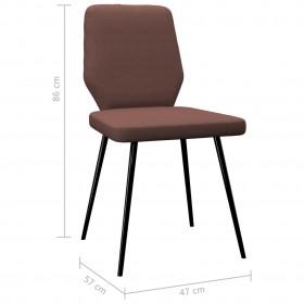 vidaXL galdauti, 2 gab., elastīgi, 80 cm, balti ar zeltainu rakstu