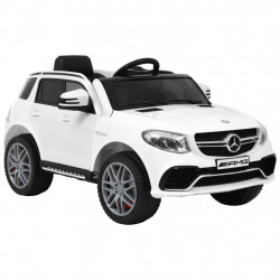 bērnu rotaļu auto, Mercedes Benz GLE63S, plastmasa, balts
