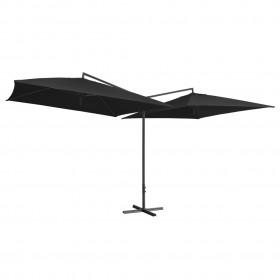 vidaXL paklājs, roku darbs, džuta, dzeltens un dabīgs, 80x160 cm