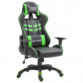 datorspēļu krēsls, zaļa mākslīgā āda
