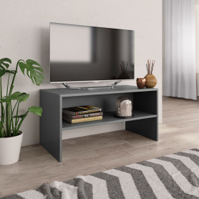 TV skapītis, 80x40x40 cm, pelēks, skaidu plāksne
