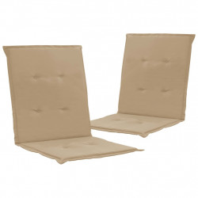 dārza krēslu spilveni, 2 gab., bēši, 100x50x3 cm