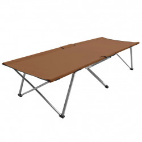 kempinga gulta, 206x75x45 cm, XXL, brūna