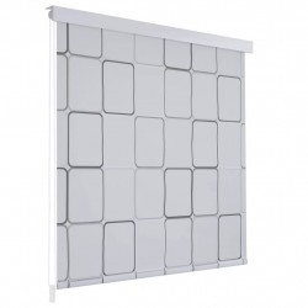 rullo žalūzija dušai, 120x240 cm, ar kvadrātiem