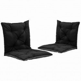 šūpuļkrēslu matrači, 2 gab., melni un pelēki, 50 cm, audums