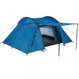 izvelkama markīze ar LED, 150x150 cm, zila ar baltu