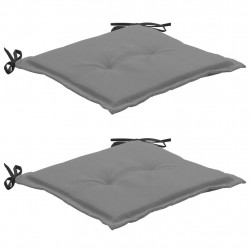 dārza krēslu spilveni, 2 gab., melni un pelēki, 50x50x3 cm
