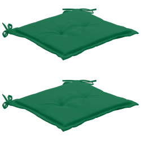 dārza krēslu spilveni, 2 gab., zaļi, 50x50x3 cm