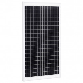 saules panelis, 30 W, polikristālisks alumīnijs, rūdīts stikls