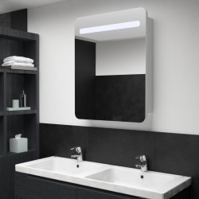 vannasistabas skapītis ar spoguli un LED, 60x11x80 cm