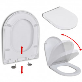 tualetes poda sēdeklis, lēni aizverams, kvadrāta forma, balts