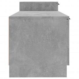 gulta ar atmiņas efekta matraci, 160x200 cm, tumšpelēks audums