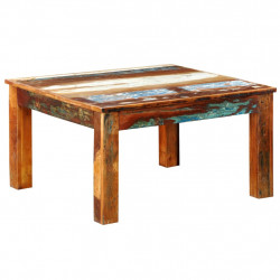 kafijas galdiņš, kvadrāta forma, pārstrādāts koks