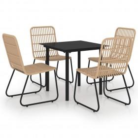 vidaXL dušas sistēma ar paneli, balts, matēts alumīnijs