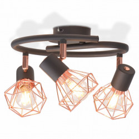 griestu lampa ar 3 LED kvēlspuldzēm, 12 W