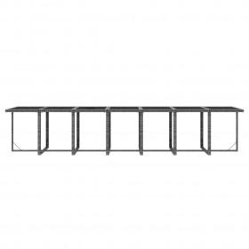 dārza bāra galds, 110x60x105 cm, masīvs tīkkoks