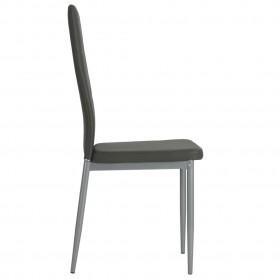 virtuves krēsli, 4 gab., vīnsarkans audums