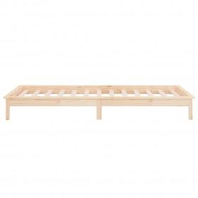 gultas rāmis, pelēks audums, 180x200 cm