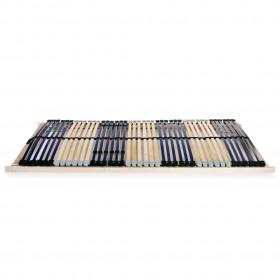 gultas rāmis, 140x200 cm, pelēks audums