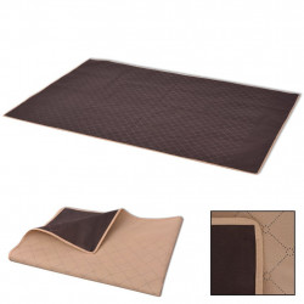 piknika sega, bēša ar brūnu, 150x200 cm