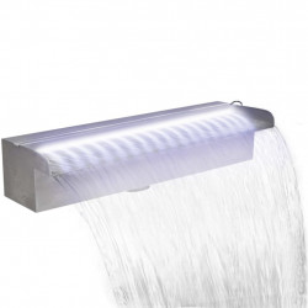 Baseina ūdenskritums, strūklaka ar LED, nerūsējošs tērauds, 45 cm
