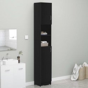 vannasistabas plaukts, melns, 32x25,5x190 cm, skaidu plāksne