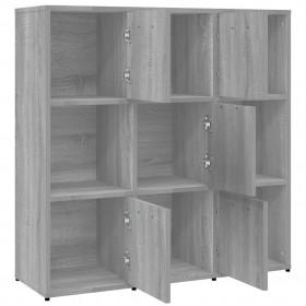 gulta ar atmiņas matraci, pelēka, 180x200 cm, mākslīgā āda