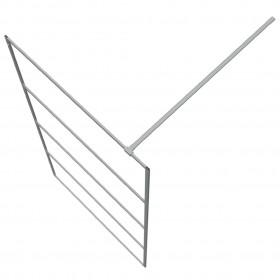 alumīnija kaste, 737/381x410x460 mm, sudraba krāsā