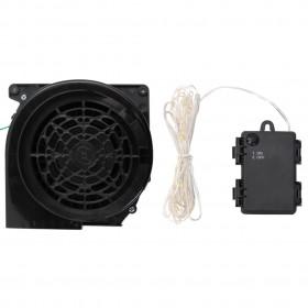 karstuma izplūdes ventilators, 3 lāpstiņas, melns