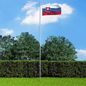 Slovākijas karogs un karoga masts, alumīnijs, 6,2 m