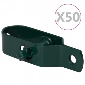 stiepļu žoga spriegotāji, 50 gab., 90 mm, zaļš tērauds